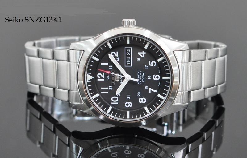 Mặt trước và dây đồng hồ Seiko SNZG13K1 (6)